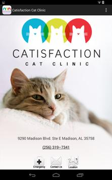Catisfaction Cat Clinic poster