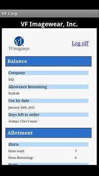 VF Imagewear Uniform Center apk screenshot