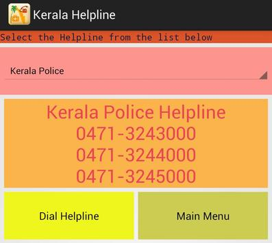 Kerala Helpline apk screenshot