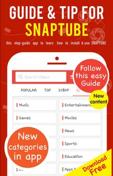 Guide Tips for SnapTube apk screenshot