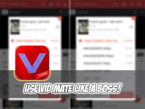 Guide Vid Mate Downloader apk screenshot