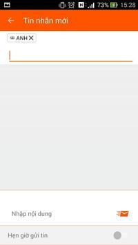 Nhắn tin nhóm - SMSList apk screenshot