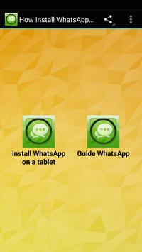How Install WhatsApp on Tablet poster
