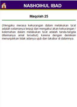 Terjemah Nashoihul Ibad apk screenshot