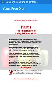 Yeast Free Diet apk screenshot