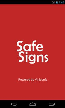 Safe Signs poster