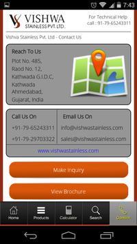 Vishwa Stainless apk screenshot