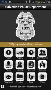 Galveston Police Department poster
