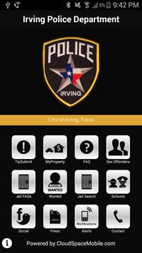 Irving Police Department poster