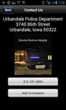 Urbandale Police Department apk screenshot