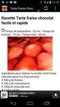 Recettes de Tartes aux Fraises apk screenshot