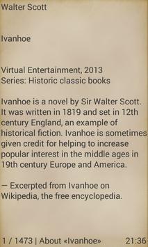 Ivanhoe by Walter Scott apk screenshot