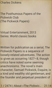 The Pickwick Papers Ch.Dickens apk screenshot