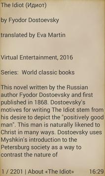 The Idiot by Fyodor Dostoevsky apk screenshot