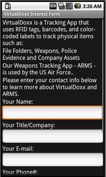 VirtualDoxx Interest Form poster