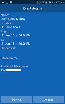 Invite&Remind apk screenshot
