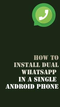 Dual WhatsApp on one phone poster