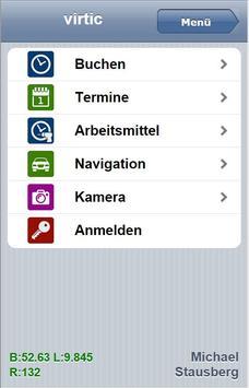 VIRTIC Mobile Zeiterfassung poster
