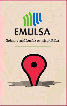 EMULSA. Incidencias y Avisos. poster