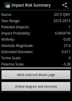 Asteroid Tracker apk screenshot