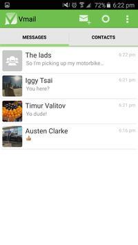 Vmail - text & voice messenger apk screenshot
