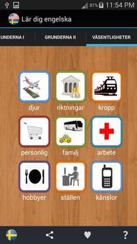 Learn English and Swedish apk screenshot