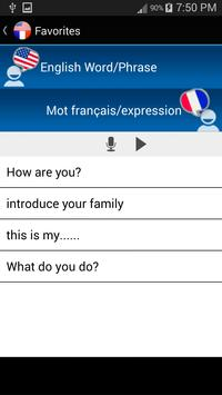 Learn English and French apk screenshot