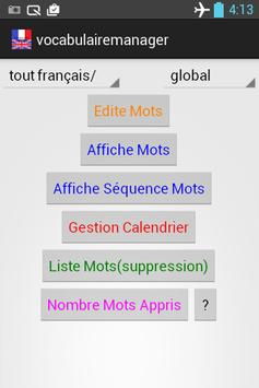 Vocabulaire Manager freemium poster