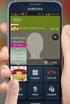 Voice changer during call apk screenshot