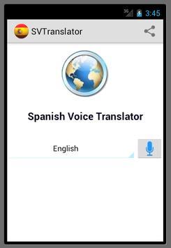 Spanish Voice Translator apk screenshot