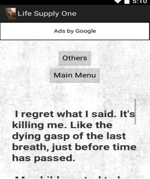 Life Supply One apk screenshot