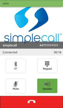 simplecall - Low cost call apk screenshot