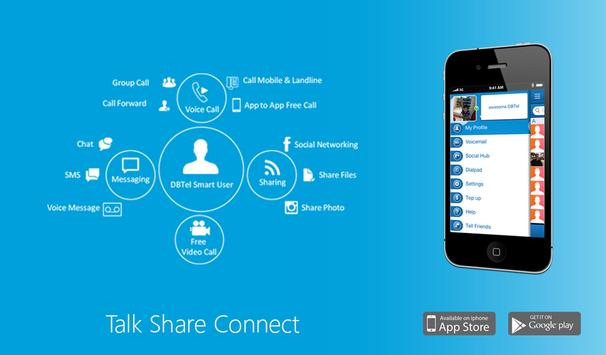 DBTel:Talk Share Connect poster
