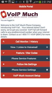 VoIP Much Mobile User Portal poster