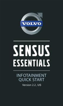 Volvo Sensus Quick Start Guide poster