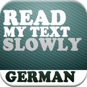 Read my Text - German - Slowly icon