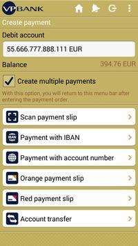 VP Bank e-banking mobile apk screenshot