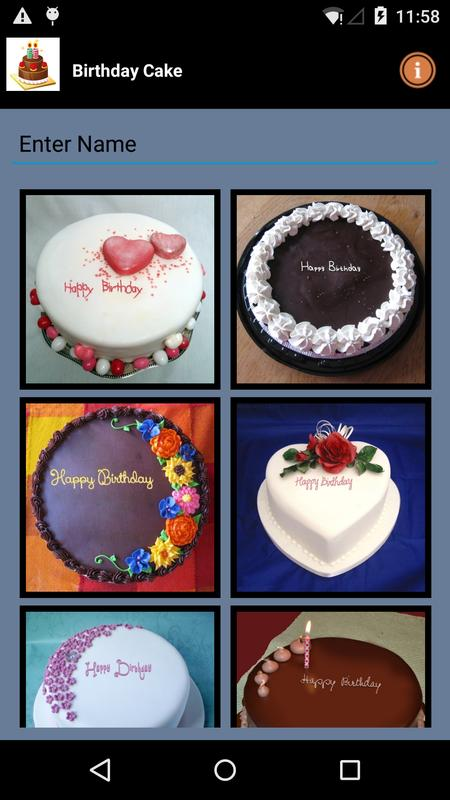 Birthday Cake Name Writer App