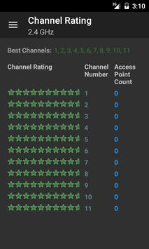 Wifi analysis apk screenshot