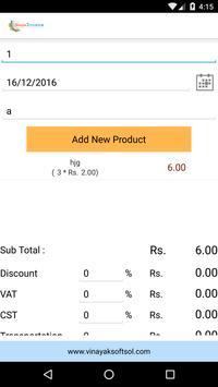 Simple Invoice System Software apk screenshot