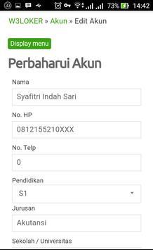 w3loker Lowongan Kerja apk screenshot