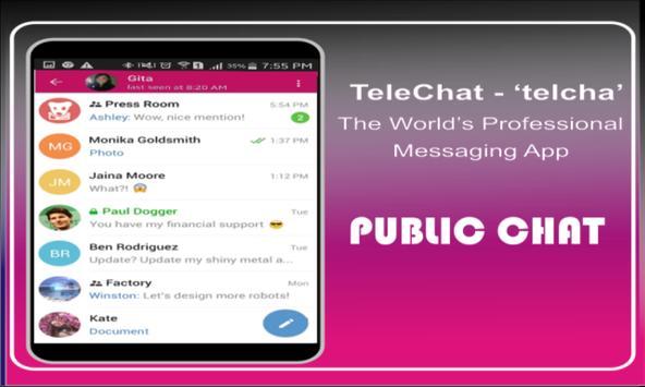 TeleChat - Messengger apk screenshot