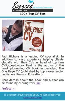 Over 100 Top CV Tips ~ Free! apk screenshot