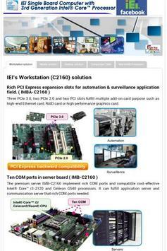 IEI 3rd Generation intel Core poster