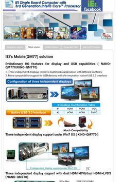 IEI 3rd Generation intel Core apk screenshot