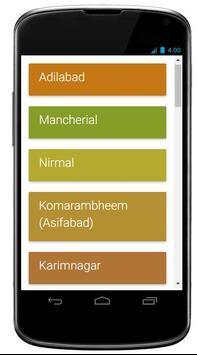 Telangana New Dist Websites poster