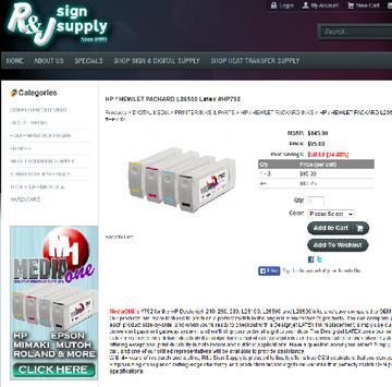R&J Sign Supply Mobile App apk screenshot