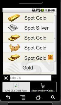 AJM Live Gold Rates poster