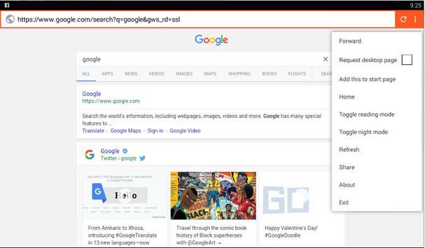 Ala Browser apk screenshot