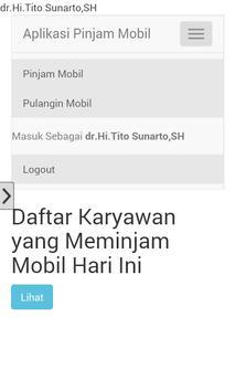 Aplikasi Pinjam Mobil Kosasih apk screenshot